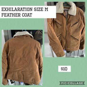 Exhilaration Feather Coat $10